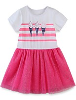 cheap -Kids Girls' Color Block Dress Blushing Pink