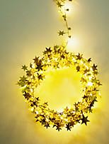 cheap -10M 100LED  Golden Stars Led String Light Bright Stars For Home Wedding Decor Lamp DIY Hanging Garden Yard Lighting Powered By AAA Battery Box 1 set