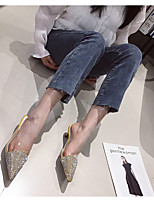 cheap -Women's Heels Stiletto Heel Pointed Toe PU Spring & Summer Black / Yellow / Green