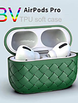 cheap -Solid Silicone Breathing Weaving BV Grid Case For Apple Headset Airpods 1/2 Airpods Pro Soft TPU Cover