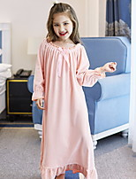 cheap -Kids Girls' Solid Colored Dress Blushing Pink