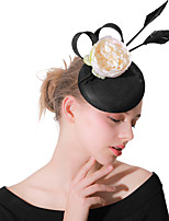 cheap -Headpieces Wedding Polyester Fascinators / Hats / Headwear with Feathers / Fur / Flower 1 Piece Wedding / Party / Evening Headpiece