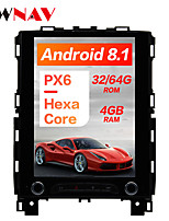 cheap -ZWNAV 10.4 inch 1DIN Android 8.1 4GB 64GB DSP PX6 Vertical screen In-Dash Car DVD Player Car GPS navigation Car multimedia player radio tape recorder For Renault KOLEOS / megane 4