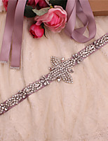 cheap -Satin / Tulle Wedding / Party / Evening Sash With Imitation Pearl / Appliques / Belt Women's Sashes