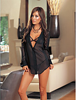 cheap -Women's Cut Out / Mesh Suits Nightwear Jacquard / Solid Colored Black White One-Size