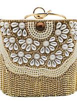 cheap -Women's Crystals / Tassel Alloy Evening Bag Geometric Pattern Gold