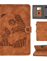 cheap -Case For Apple / Samsung Galaxy / Huawei Universal with Stand / Flip / Embossed Full Body Cases Animal / Cartoon / Panda PU Leather