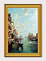 Недорогие -обрамленное искусство печать импрессионистов пейзаж венеция вода город пс картина маслом стены искусства
