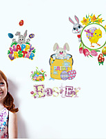 cheap -Happy Easter bunny egg Decorative Wall Stickers - Plane Wall Stickers Holiday Indoor