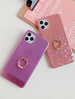 cheap -Case For Apple iPhone 11 / iPhone 11 Pro / iPhone 11 Pro Max Ring Holder / Pattern Back Cover Glitter Shine TPU / Acrylic
