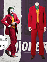 cheap -Joker Cosplay Costume Outfits Men's Movie Cosplay Suits RedYellow Vest Shirt Top Halloween Masquerade Terylene / Pants