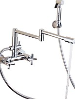 cheap -Kitchen faucet - Two Handles Two Holes Electroplated Pot Filler Contemporary Kitchen Taps