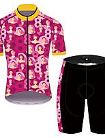 Недорогие -21Grams Муж. С короткими рукавами Велокофты и велошорты Розовый / черный Велоспорт Устойчивость к УФ Быстровысыхающий Виды спорта Сплошной цвет Горные велосипеды Шоссейные велосипеды Одежда
