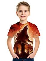 cheap -Kids Boys' Active Street chic 3D Animal Print Short Sleeve Tee Orange