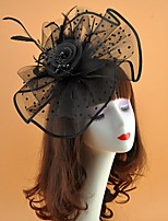 cheap -Net Fascinators with Solid 1 Piece Wedding / Tea Party Headpiece