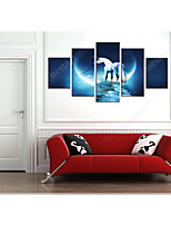 cheap -5 Panels Modern Canvas Prints Painting Home Decor Artwork Pictures DecorPrint Rolled Stretched Modern Art Prints Animals Celestial