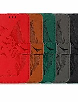 cheap -Case For Apple iPhone 11 / iPhone 11 Pro / iPhone 11 Pro Max Wallet / Card Holder / Shockproof Full Body Cases Feathers PU Leather / TPU