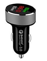 cheap -QC 3.0 Dual Usb Car Charger Car Cigarette Lighter Universal USB Car-Charger with car voltage display For iphone Sumsung Xiaomi