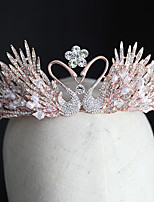 cheap -Women's Tiaras For Wedding Party Evening Prom Festival Art Deco Alloy Blushing Pink 1pc