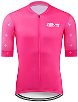 cheap -21Grams Men's Short Sleeve Cycling Jersey 100% Polyester Fuchsia Floral Botanical Bike Jersey Top Mountain Bike MTB Road Bike Cycling UV Resistant Breathable Quick Dry Sports Clothing Apparel