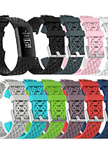 cheap -Watch Band for Fitbit charge3 Fitbit Sport Band / Classic Buckle Silicone Wrist Strap