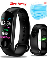 cheap -Complimentary 2PCS Mask M3 Smart Wristband BT Fitness Tracker Support Notify / Heart Rate Monitor Blood Pressure Oxygen Monitoring Waterproof Sport Bluetooth Smartwatch Compatible IOS / Android Phones