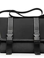 cheap -Men's Zipper PU Top Handle Bag Solid Color Black