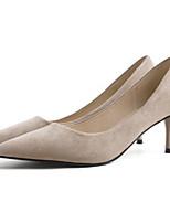 cheap -Women's Heels Stiletto Heel Pointed Toe PU Spring & Summer Black / Beige / Light Pink