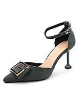 cheap -Women's Heels Stiletto Heel Pointed Toe Suede Spring & Summer Black / Blue / Khaki