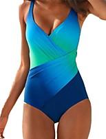 cheap -Women's Light Blue Purple Blushing Pink Bikini Swimwear Swimsuit - Color Block M L XL Light Blue