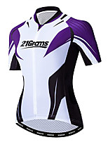 cheap -21Grams Women's Short Sleeve Cycling Jersey 100% Polyester Black / White Bike Jersey Top Mountain Bike MTB Road Bike Cycling UV Resistant Breathable Quick Dry Sports Clothing Apparel / Stretchy