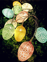 cheap -1pcs Set Easter Eggs 10 LED 1.5m String Lights Happy Easter Decoration Lights Warm White Easter Home Decoration
