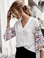 cheap -Women's Daily T-shirt - Floral White