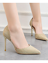 cheap -Women's Heels Stiletto Heel Pointed Toe PU Spring & Summer Gold / Silver / Pink
