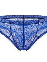 cheap -Men's Lace Boxers Underwear - Normal Low Waist Light Blue White Purple M L XL