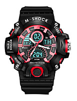 cheap -Men's Sport Watch Quartz Sporty Stylish Rubber Black 30 m Water Resistant / Waterproof Calendar / date / day Chronograph Analog - Digital Outdoor Cool - Red Green Blue Two Years Battery Life