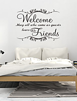 cheap -PVC Wallpaper for Living Room New Fashion Welcome Friend Art Vinyl Mural Home Room Decor Wall Stickers