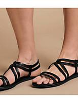 cheap -Women's Sandals Flat Heel Round Toe Cotton Spring & Summer Black