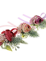 cheap -Wedding Flowers Wrist Corsages Wedding / Special Occasion Fabrics 0-10 cm