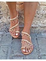 cheap -Women's Sandals Boho Flat Heel Round Toe PU Summer Yellow