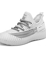 cheap -Boys' / Girls' Comfort Knit Trainers / Athletic Shoes Big Kids(7years +) Walking Shoes Buckle White / Black / Champagne Summer / Fall / TPR (Thermoplastic Rubber)