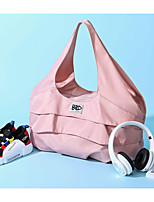 cheap -Women's Zipper Oxford Cloth Top Handle Bag Solid Color Blushing Pink / Black
