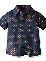 cheap -Kids Boys' Basic Polka Dot Short Sleeve Shirt Black