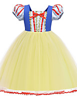 cheap -Princess Dress Flower Girl Dress Girls' Movie Cosplay A-Line Slip Yellow Dress Children's Day Polyester / Cotton Blend Polyster
