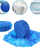 cheap -Newly 10pcs Toilet Bowl Cleaner Tablets Antibacterial Cleaning Tab Blue Bubble For Bathroom