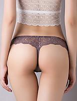 cheap -Women's Lace G-strings & Thongs Panties Low Waist Wine Purple Fuchsia One-Size