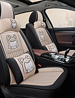 cheap -Car seat cover cartoon Non-slip fabric all surround linen seat set Car cushion cute ice silk Four Seasons five seats