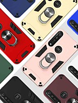 cheap -Case For Motorola Moto G6 Play / Moto E5 / MOTO G8PLUS 360° Rotation / Shockproof / Ring Holder Back Cover Solid Colored TPU / PC
