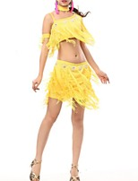 cheap -Latin Dance Outfits Women's Performance Polyester Beading / Tassel Skirts