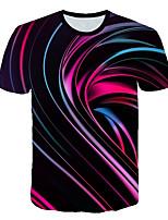 cheap -Kids Boys' Basic Street chic Color Block 3D Rainbow Print Short Sleeve Tee Black
